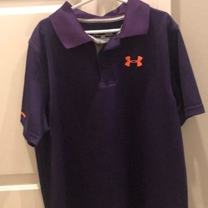 Under Armour Heat Gear golf shirt, size youth L